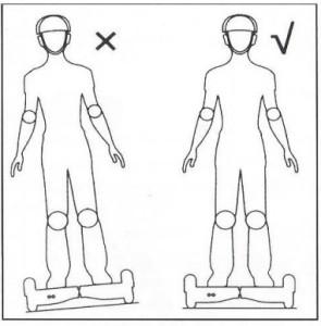 notice hoverboard bonne position